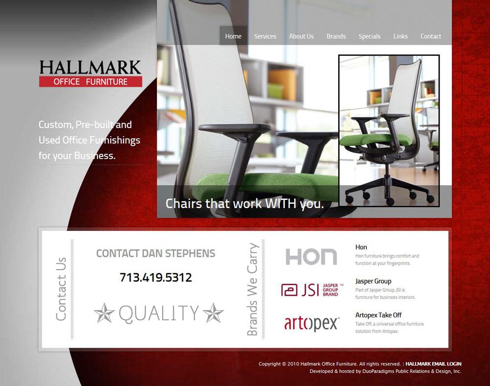 Hallmark Office Furniture Website