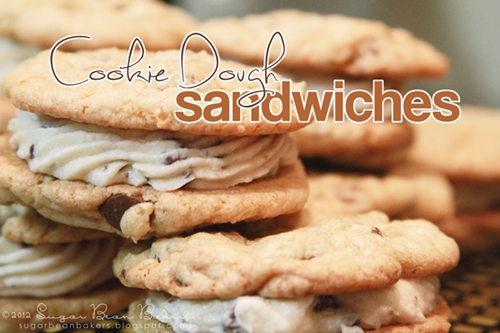 Chocolate Chip Cookie Dough Sandwiches ( Sugar Bean Bakers )