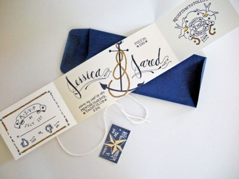 10 Gorgeous Nautical Themed Wedding Invitations DuoParadigms – Nautical Wedding Invite