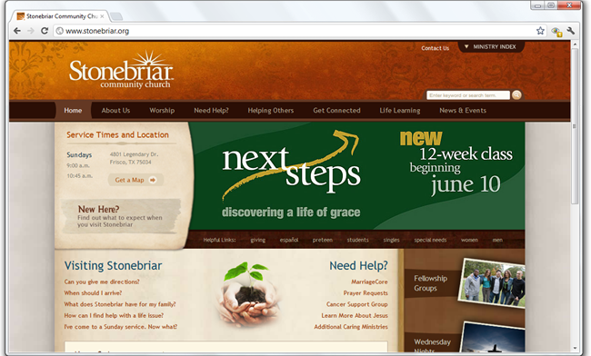 stonebriar community church - Church Website Design Ideas