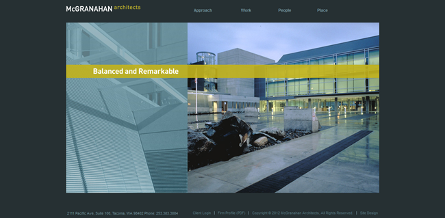 Excellent examples of architect websites duoparadigms for Architectural websites