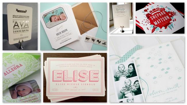 Letterpress Baby Announcement Inspiration - DuoParadigms Public ...