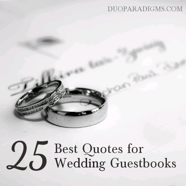 Love Quote For Wedding Guest Book Guestbook I Made In Word