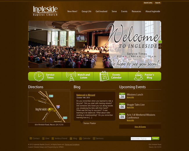 Church Website Design 9 Inspirational...