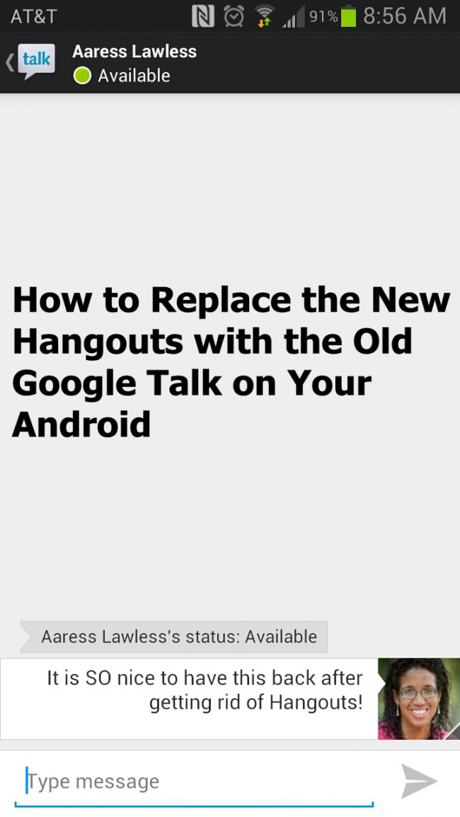 how to get rid of google talk on imessage