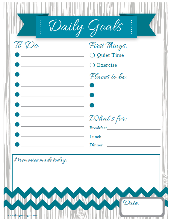 free daily  u0026 weekly schedule printables for the whole