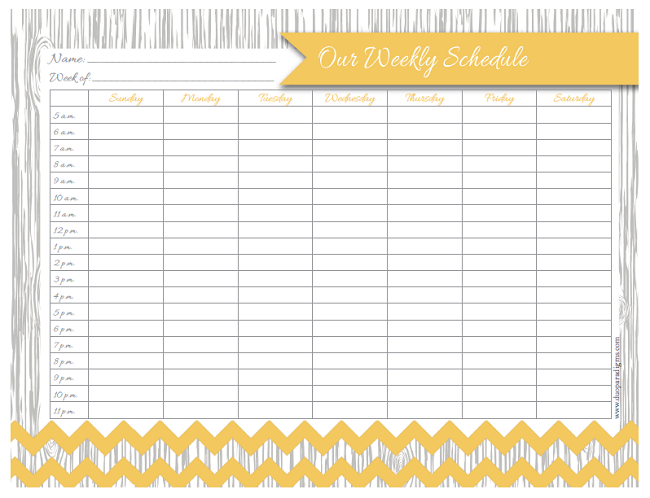 Free Daily & Weekly Schedule Printables for the Whole ...