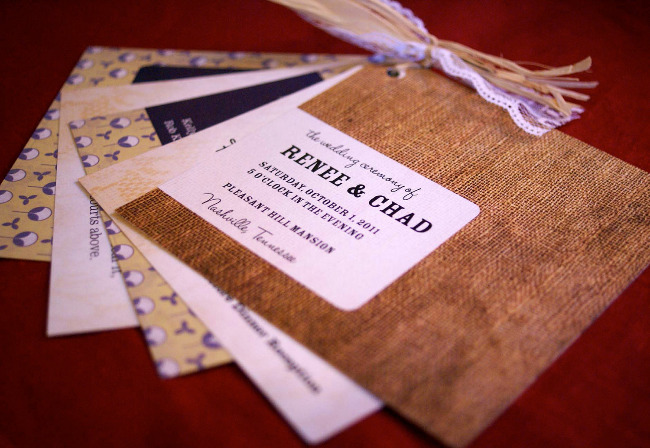 Burlap & Lace Wedding Program